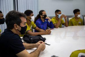 O prefeito de Mesquita recebeu os atletas de handebol masculino de alto rendimento da cidade. Além de uma promessa do Jiu-Jitsu na cidade.